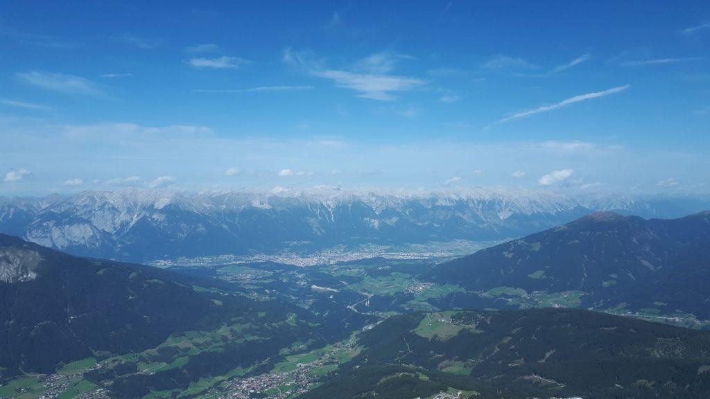 Blick von der Serles über Innsbruck